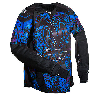 Virtue Elite Pro Paintball Jersey - Cyan / Purple