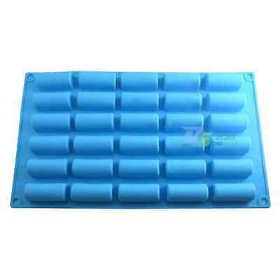 Silicone 30 Cylinders Cake Chocolate Bar Cookie Candy Pastry Soap Ice Cube Mold