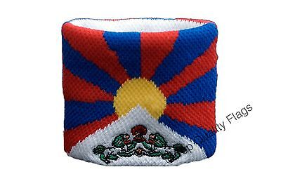 WRISTBAND Tibet Flag SWEATBAND 7x8cm SET of 2 pcs