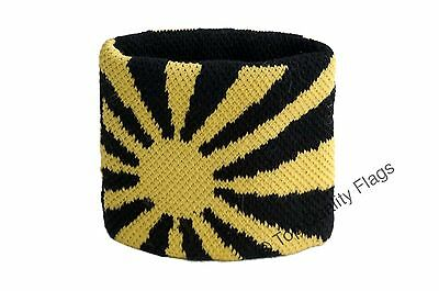 WRISTBAND Yellow-black Flag SWEATBAND 7x8cm SET of 2 pcs