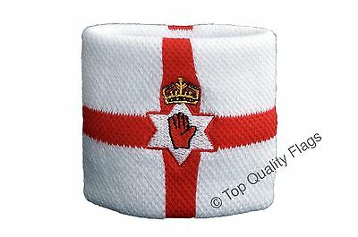 WRISTBAND Northern Ireland Flag SWEATBAND 7x8cm SET of 2 pcs