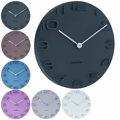 Karlsson On The Edge 42cm Round Modern Wall Clock with Chrome Finish Hands