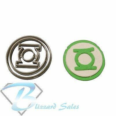 Green Lantern Logo Cookie Fondant Cutter 5cm 7cm 10cm Set Birthday Cake