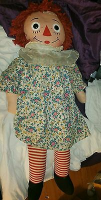 "Reduced Vintage Raggedy Anne Doll By  Knickerbocker She's 32""t & All Orig."