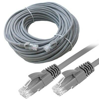 30M RJ45 Cat5E Premium LAN Network Ethernet ADSL Modem Router UTP Patch Cable UK