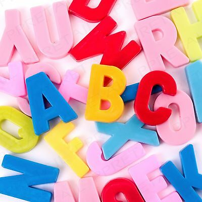 104 x MAGNETIC COLOUR ALPHABET LETTERS Learning/Educational Toy Fridge Magnets
