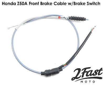 Honda Z50 1969 1970 1971 Gray Front Brake Cable with Brake Switch Replacement