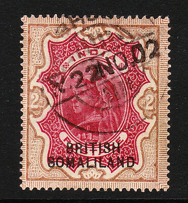 SOMALILAND 1903 2r CARMINE & YELLOW-BROWN SG 22 FINE USED.