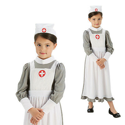 Rubies Childs World War One Nurse Historical WW1 Book Week Fancy Dress Costume