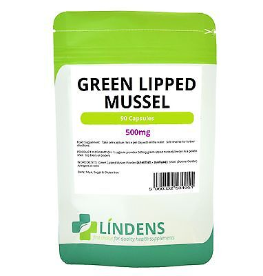 Green Lipped Mussel 500mg ***90 Capsules*** - Joint Health ****Humans & Dogs****