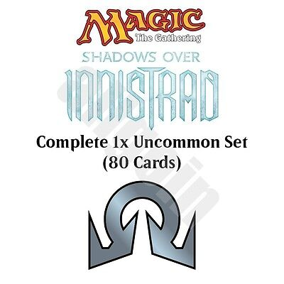MTG SOI 1x UNCOMMON COMPLETE SET (80 CARDS) NM/Mint Shadows Over Innistrad