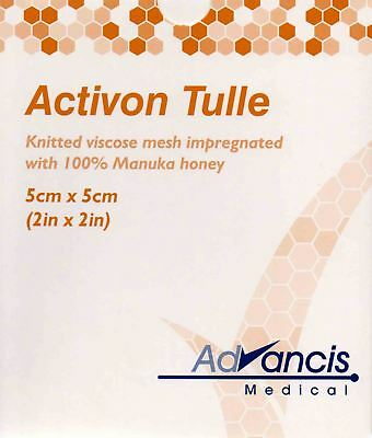 Advancis Activon Manuka Honey Tulle Dressings 5cm x 5cm (x5)