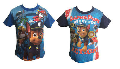 OFFICIAL PAW PATROL Boys Girls Childrens Kids Top / Tshirt Sizes 3 4 5 6 7 8 NEW