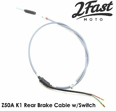 Honda Z50 Mini Trail Gray Grey Rear Brake Cable with Brake Switch Replacement