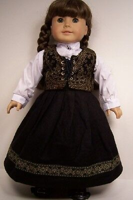 5pc Western SKIRT TOP VEST BOOTS ARMBAND Doll Clothes For 18 American Girl Debs