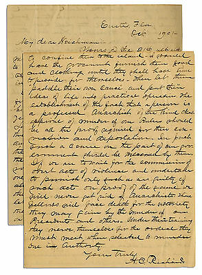 Abraham Lincoln Assassination Great Letter Signed