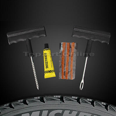 Motorcycle / Car Tubeless Tyre Puncture Repair Kit Tool Tire Plug Auto 6In1 Set
