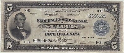 1918 $5 St. Louis  Fr-796   **Scarce and Affordable**