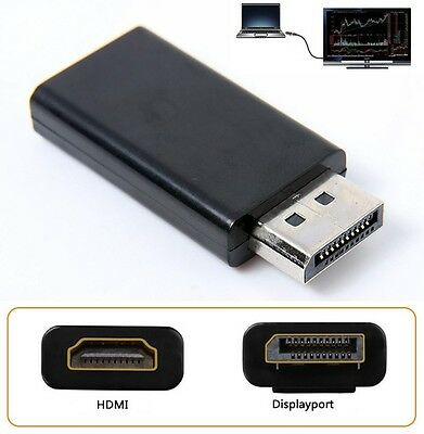 DisplayPort DP Male to HDMI Female Converter Cable Adapter Video Audio Connector