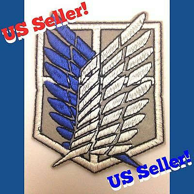 Attack On Titan Scout Regiment Iron-On Cloth Emblem PATCH Cosplay Survey Corps