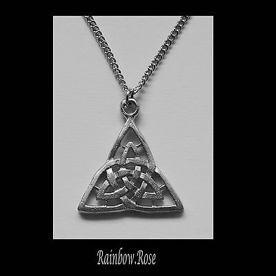 Necklace on Chain #59 CELTIC TRIANGLE 26mm