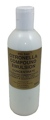 Gold Label Citronella Compound Emulsion Concentrate 500 Ml  Horse/Pony Grooming