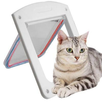 UK Staywell PetSafe 400 White Magnetic Cat Flap Pet Door 4 Way Locking Quality