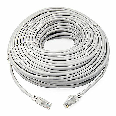20m WHITE Cat5e RJ45 10/100 Ethernet Network LAN Cable Patch PC to Router Lead