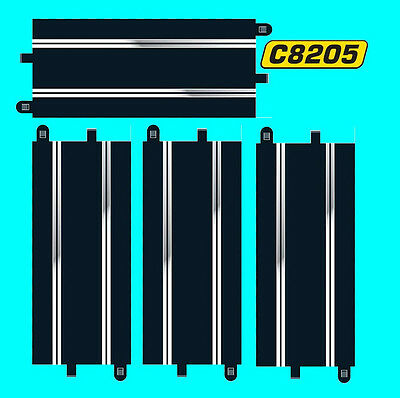 4x SCALEXTRIC C8205 SPORT TRACK STANDARD STRAIGHTS equivalent to 8 C8207 Half