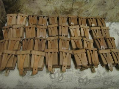 Pair of Soviet Mosin Rifle Leather Pouches German Reparation 1950