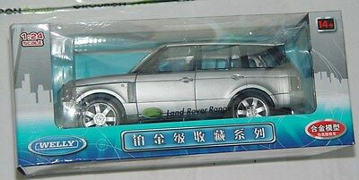 Welly Brand Land Rover Range Rover 2003-2005 Silver 1:24 Scale Collection Series
