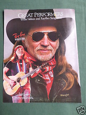 Willie Nelson - Magazine Clipping / Cutting- 1 Page Advert