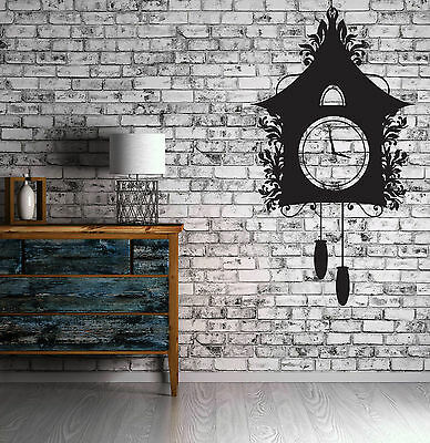 Wall Sticker Vinyl Vintage Cuckoo Clock Dreamlike House Chains Kettlebell (n497)