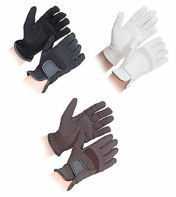 Shires Bicton Lightweight Competition Horse Riding Gloves - Childs ALL SIZES