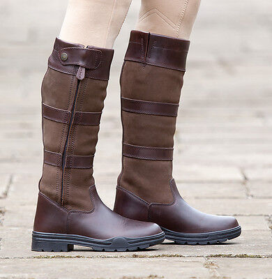 Shires Broadway Long Leather Waterproof Zip Horse Riding Boots ALL SIZES