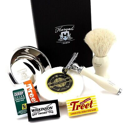 Quality And Old Style Classic Safety Razor Shaving Gift Set For Men Badger Brush