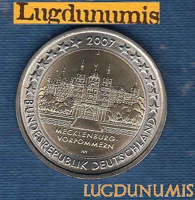 2 euro Commémo - Allemagne 2007 Chateau Schwerin J Hambourg Germany