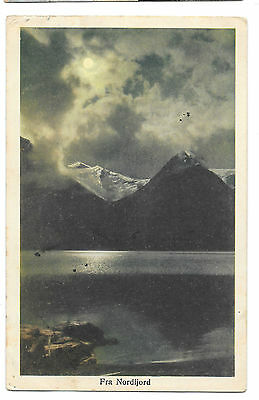 Fra Nordfjord PPC Unposted, 1912 PMK to Hale, Sent from Aboard Ship