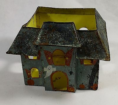 Vintage Halloween Haunted Tealight Candleholder House