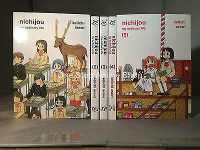 Nichijou My Ordinary Life Manga Volume 1-5  english new
