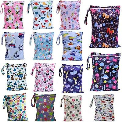 Waterproof Kids Wet Bag 30x40cm for Nappies, Clothes, Swimmers, baby clothes