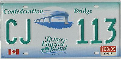 2009 Prince Edward Island Confederation Bridge license plate 115 Grams = MINT =