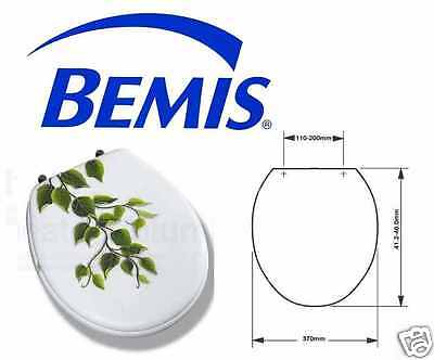 Bemis Moulded Wood Novelty Toilet Seat With Adjustable Chrome Plated Hinges New