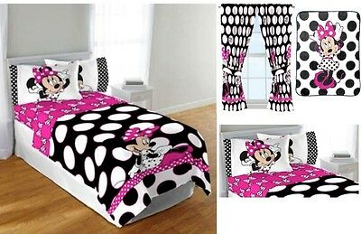 KIDS GIRLS DISNEY Minnie Mouse Bedding Bed In A Bag ...