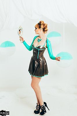 CL Design Latex Bolero Top Oberteil Ärmelbolero Jäckchen Shrug Jacket Rubber Hot