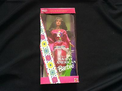 Native American Third Edition Barbie Doll of World Collection Mattel MIB NRFB