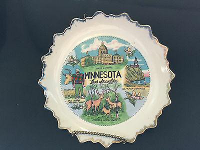 Minnesota Land of 10,000 Lakes Souvenir Collector's Plate