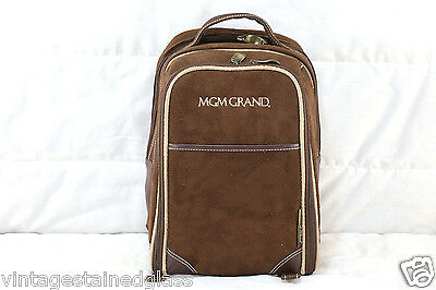 MGM Grand Suede Leather Drinks Service Backpack; Picnic at Ascot           (347)