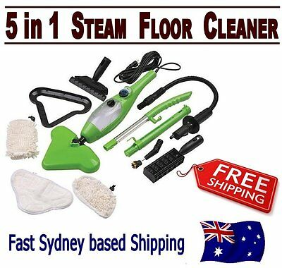 Multi Function H20 H2O Steam Mop 5 in 1 X5 Cleaner Floor Carpet Window Garment