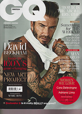 Gq British Magazine March 2016, David Beckham Covers, New No-Label.